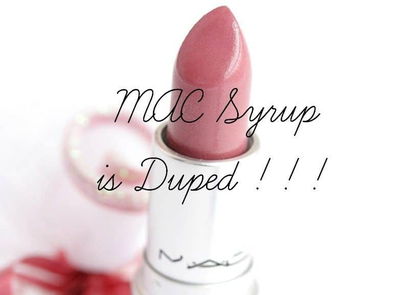 MAC Syrup Dupes! That Lustrous Berry Pink