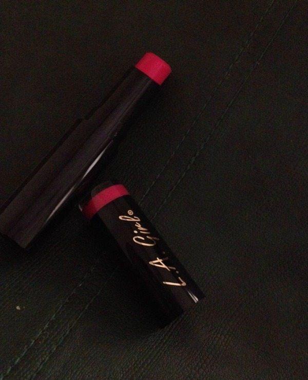 L.A. GIRL Matte Flat Velvet Lipstick Bliss Review 2