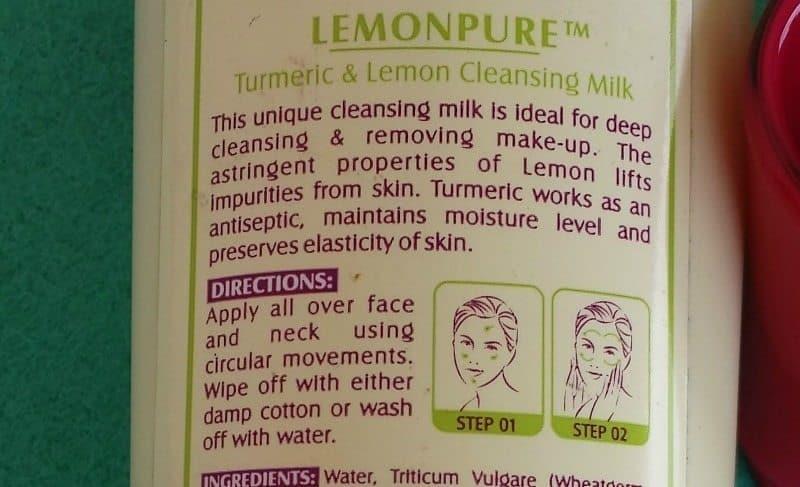 Lotus Herbals Lemonpure Turmeric and Lemon Cleansing Milk Review