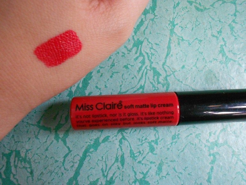 Miss Claire Soft Matte Lip Cream 01 Review 4