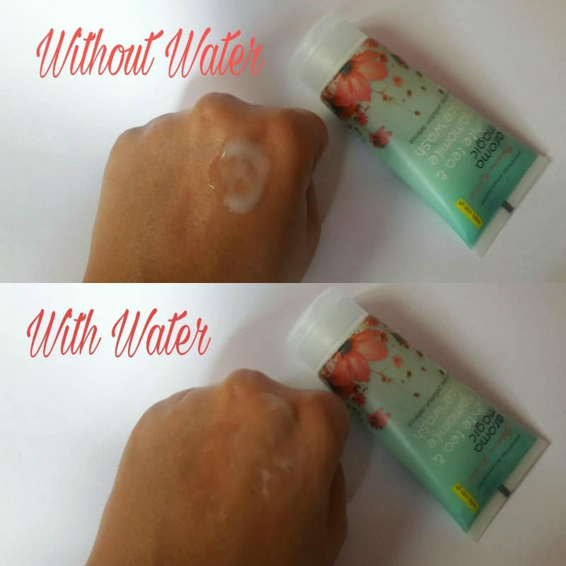 Aroma Magic White Tea and Chamomile Face Wash Review 4