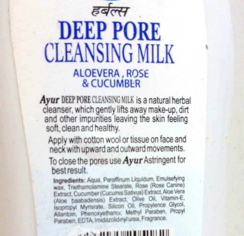 Ayur Deep Pore Cleansing Milk 2