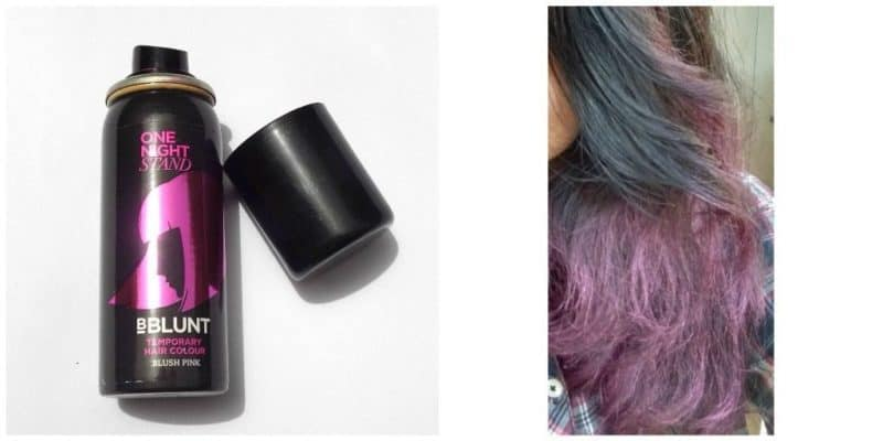 B Blunt One Night Stand Temporary Hair Colour Blush Pink Review 2