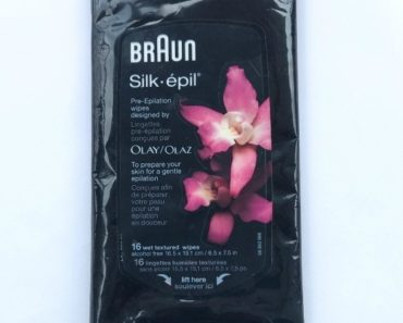 BRAUN Silk-Epil Pre-epilation wipes Designed by Olay