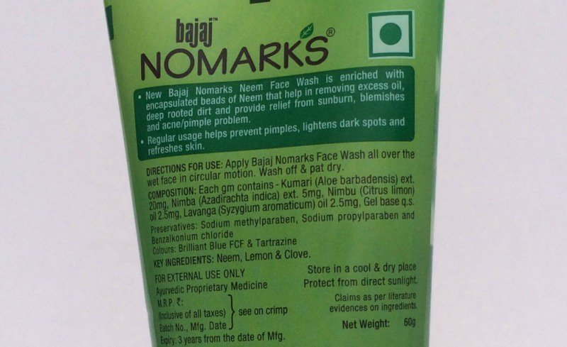 Bajaj No Marks Neem Face Wash 2