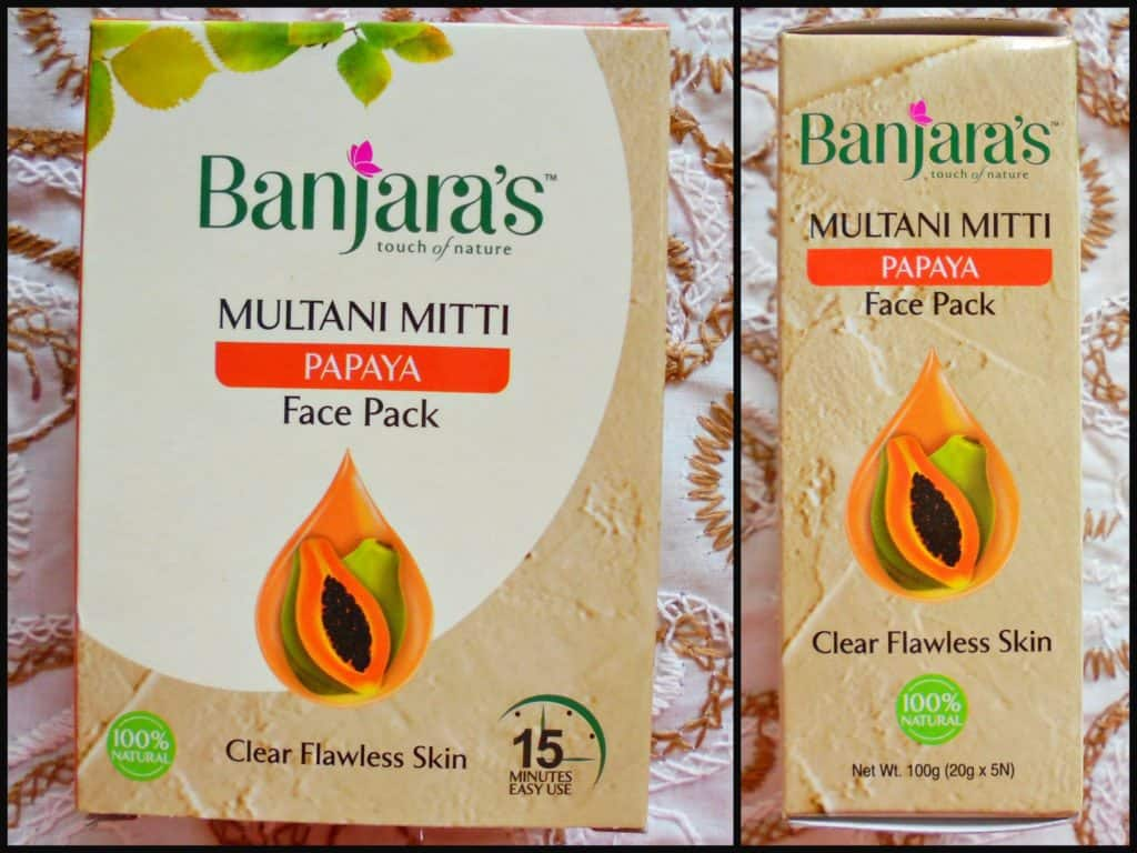 Banjara's Multani Mitti + Papaya Face Pack Review  5