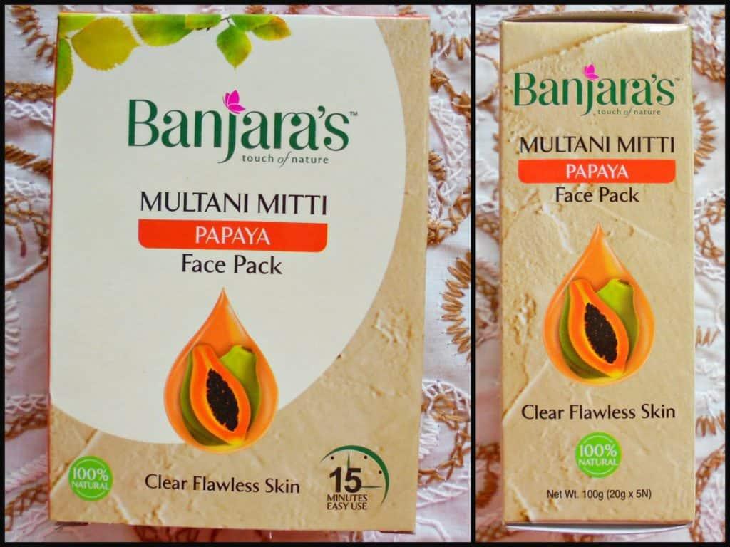 Banjara's Multani Mitti + Papaya Face Pack Review  5