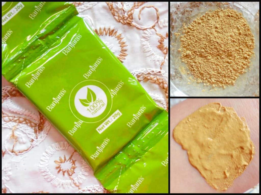 Banjara's Multani Mitti + Papaya Face Pack Review 6