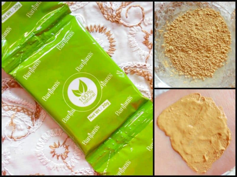 Banjara's Multani Mitti + Papaya Face Pack Review 6