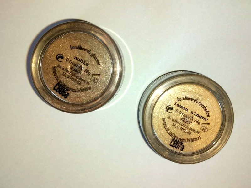 Bare Minerals i.d eye shadow Noble and Lemon Zinger Review 4