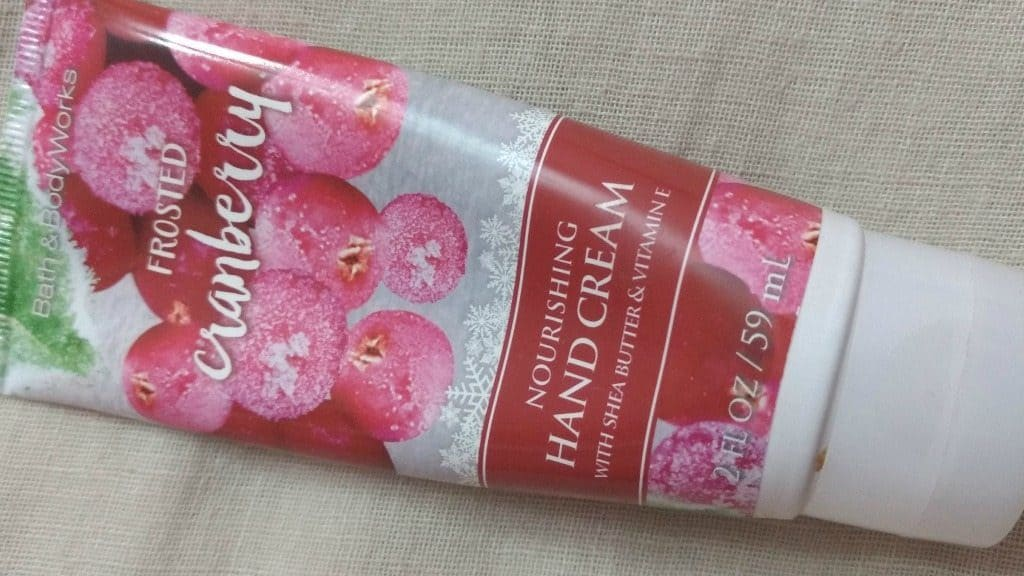 Bath & Body Works Frosted Cranberry Hand Cream Review 2