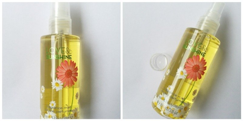 Bath and Body Works Love and Sunshine Body Mist