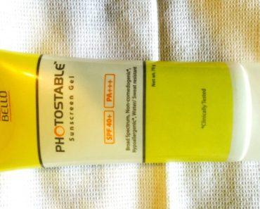 Bello Photostable Sunscreen Gel