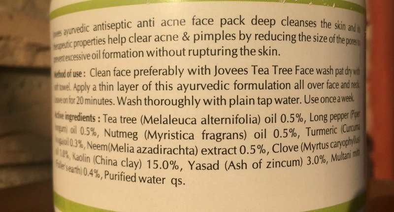 Best Face Pack for Pimples Jovees Anti Acne Face Pack