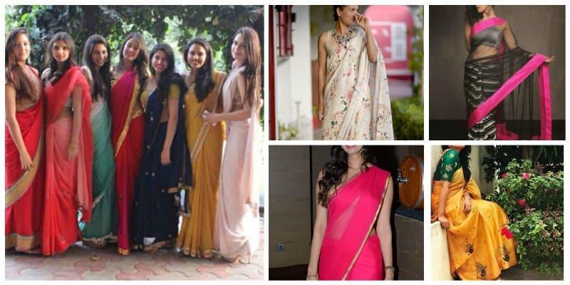 Best Farewell Sarees for Girls