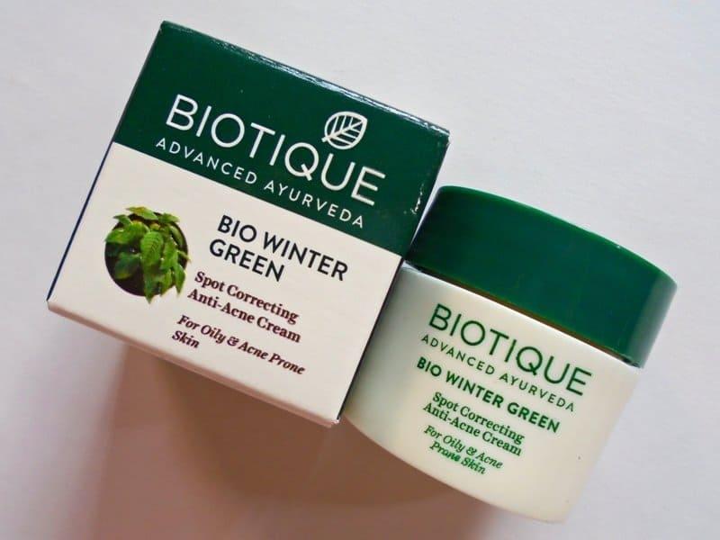 Best Pimple Cream Biotique Bio Winter Green Spot Correcting Anti-acne Cream