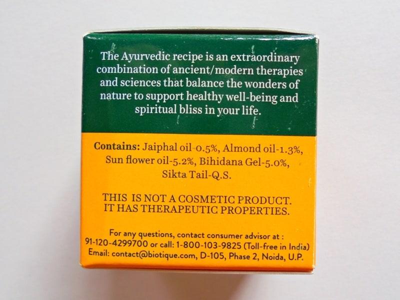 Biotique Bio Almond Soothing & Nourishing Eye Cream Review 1
