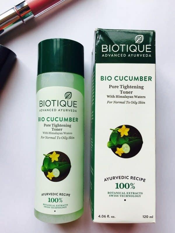 Biotique Bio Cucumber Pore Tightening Toner 4