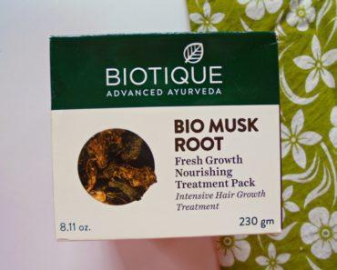 Biotique Bio Musk Root Fresh Growth Nourishing Treatment Pack Review