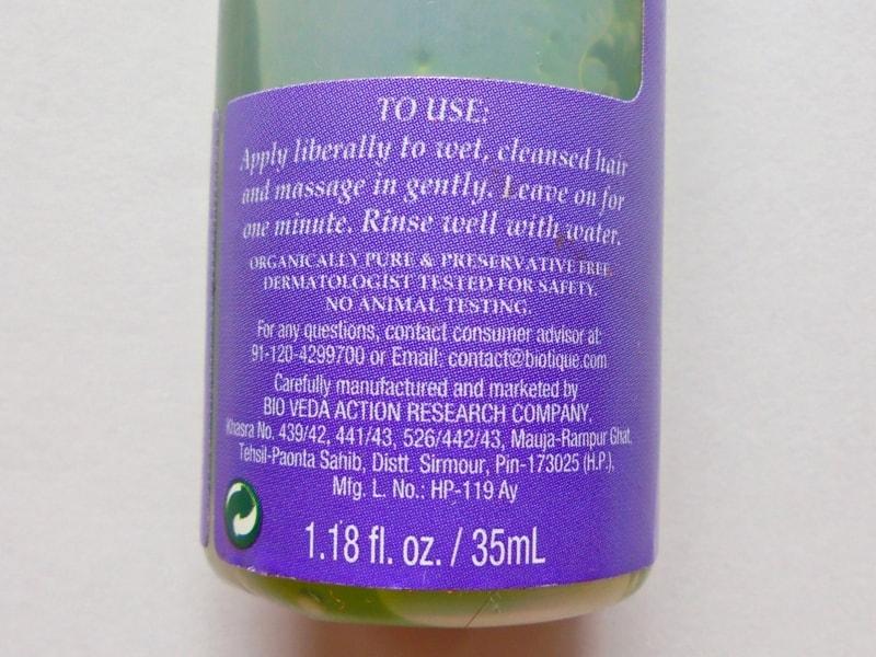 Biotique Bio Watercress Fresh Nourishing Conditioner Review 1