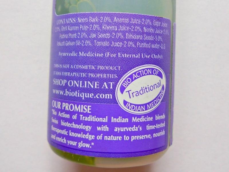 Biotique Bio Watercress Fresh Nourishing Conditioner Review 2