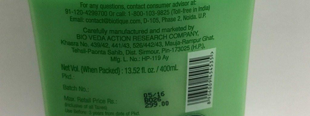 Biotique Botanicals Bio Margosa Anti-Dandruff Shampoo & Conditioner Review 4