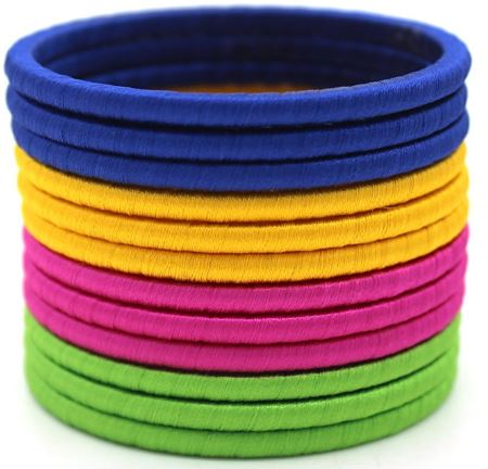 Solid color thread bangles