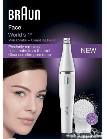 # Braun 810 Face Mini Epilator + Cleansing Brush
