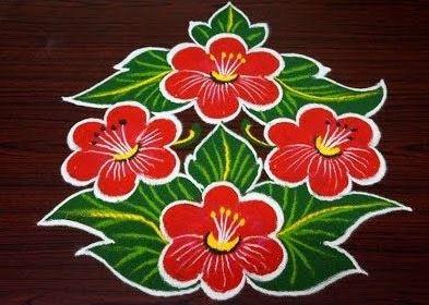 Floral kolam designs