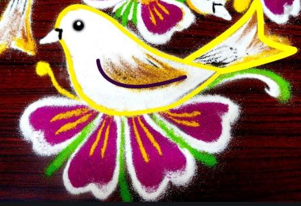 Birds kolam design