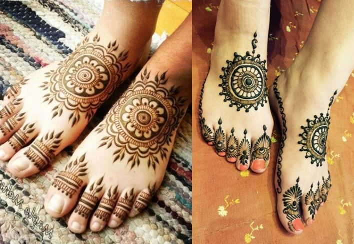 Traditional Circular Leg Mehndi Design