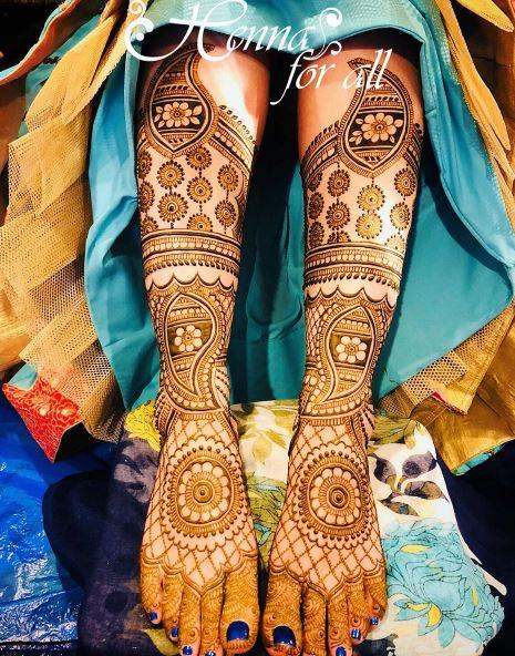 # Full-length Shankha Pattern Rajasthani Henna