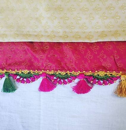 Lace saree kuchu