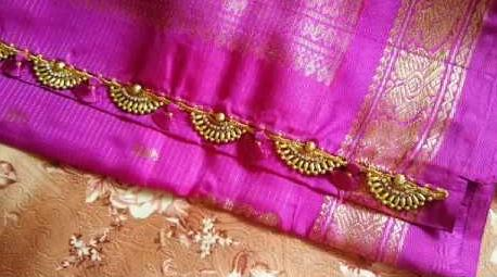 crotchet saree kuchu