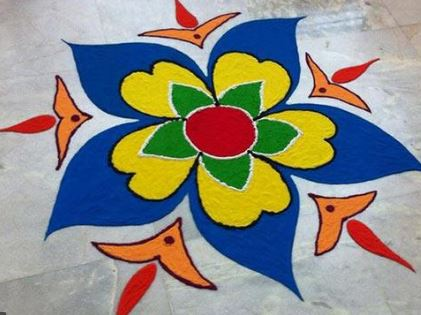 What are Simple Rangoli Designs for Home ?