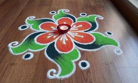 What are Simple Rangoli Designs for Home ? 1