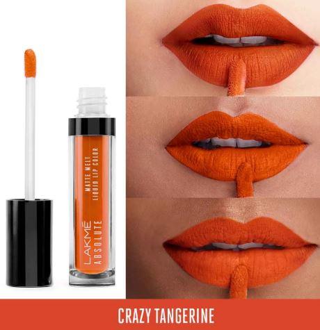 Lakme Absolute Matte Melt Liquid Lip Color Crazy Tangerine