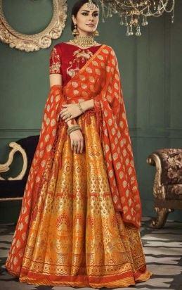 Silk lehenga saree