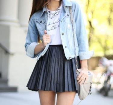 With a High Waisted Skirt