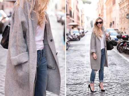 A long over-coat:
