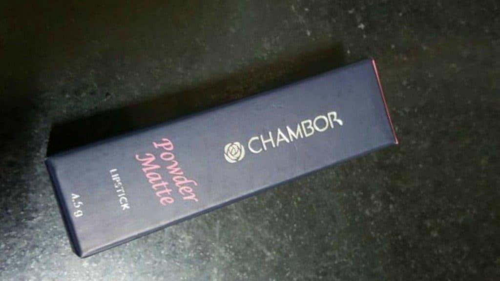 Chambor Powder Matte Lipstick Rubis Rouge
