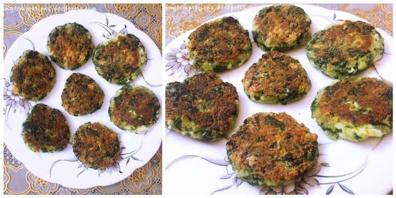 Cheesy Palak and Paneer Tikki Recipe