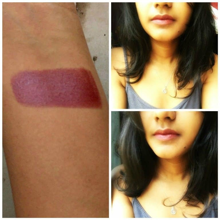 Colorbar Pure Innocence Velvet Matte Lipstick Review 4