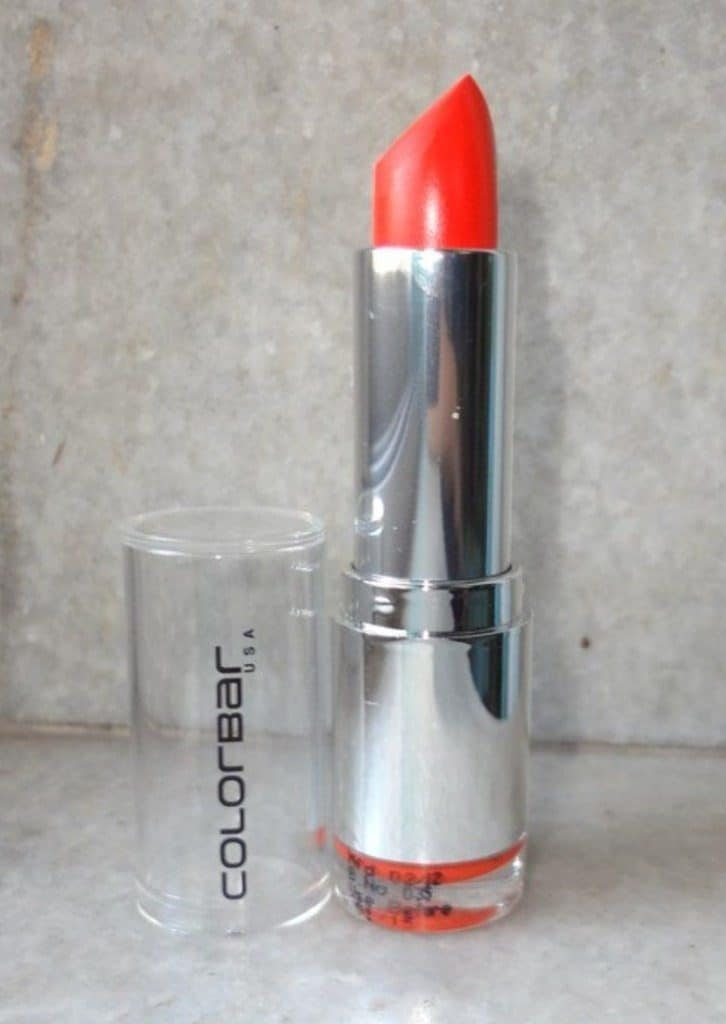 Colorbar Velvet Matte lipstick Obsessed Orange Review