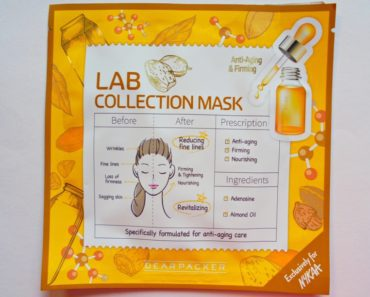 Dear Packer Lab Collection Anti-Ageing & Firming Mask Review