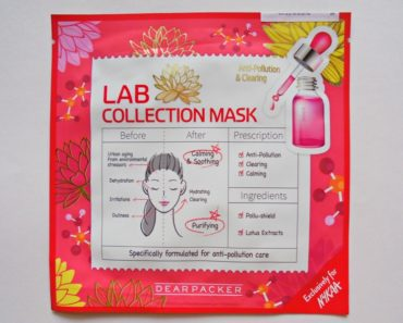 Dear Packer Lab Collection Anti-Pollution & Clearing Mask Review