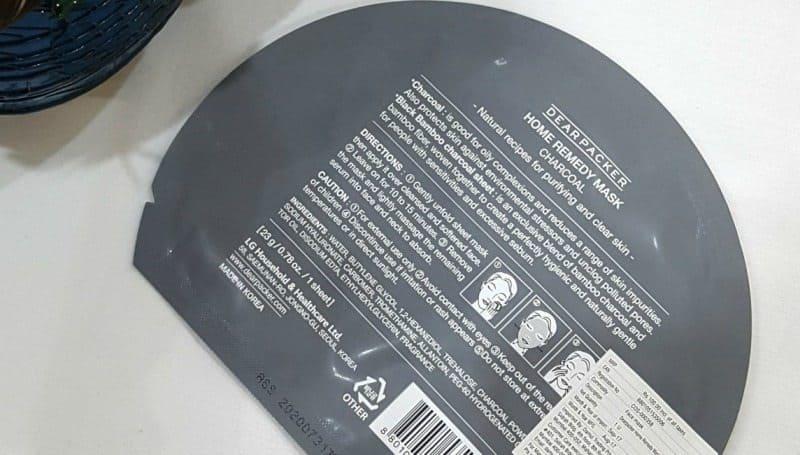 DearPacker Charcoal Home Remedy Mask