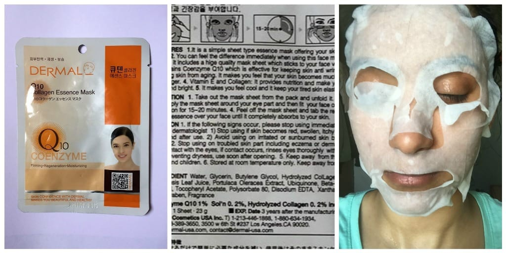 Who is it for? The Dermal Collagen Q10 Mask is perfect for everyone who need an immediate soft, nourished and glowing skin! Within 20 minutes of usage of this sheet mask gives you a relaxed, clear and moisturized skin. Price: Rs 145 for 23 grams How to use: After cleansing and on a dry face soothe with a toner then gently apply the sheet mask around your eyes and then fit your face contours. Leave it on for 15-20 minutes. Peel off the mask sheet and tab the remaining collagen essence over your face until it completely absorbs onto your skin. Any Sensitivity Alert? No My experience with Dermal Collagen Q10 Mask Packaging: Comes in a glossy rectangular packet with slits on the top left and right corners to make ripping easy. Texture & Consistency: Texture of the sheet mask is just like any other sheet mask. It is soft, smooth, and very comfortable on the skin. The serum has a slight gel-like consistency and gets absorbed into the skin pretty fast. Fragrance: This has a slight alcoholic smell but fades away within seconds. Effects: This sheet mask does make the skin soft and moisturized within the first usage and gives a very beautiful dewy look. What do I like about this?  This product delivers exactly what it promises, after the first usage the face feels soft, nourished and rejuvenated.  The sheet mask with a patch for the eyes that provides relaxation for the eyes as well!!  Gives a dewy look  Delivers nutrition directly to the skin  Regular usage can aid in skin firming and no signs of wrinkles.  Contains vitamin E What I don't like?  Expensive in comparison to other sheet mask available in the market. Would I recommend? I would definitely recommend for an immediate glow and dewy look. After the usage I felt my skin to be flushed (in a good way – like a sign of healthy skin) and this glow lasted for the entire day and the next day my skin still felt soft until I washed my face. Rating-5/5