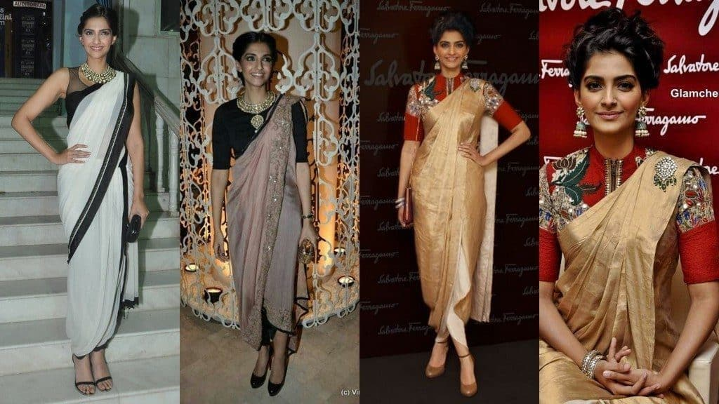 Dhoti Sari Fashion Look of The Day + How to Drape !