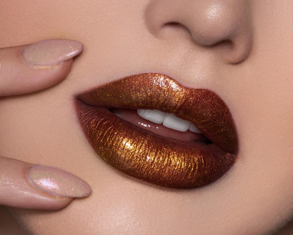 Maybelline's Lip Studio Glitter Fix Glitter Lip Gloss- Gold Boost